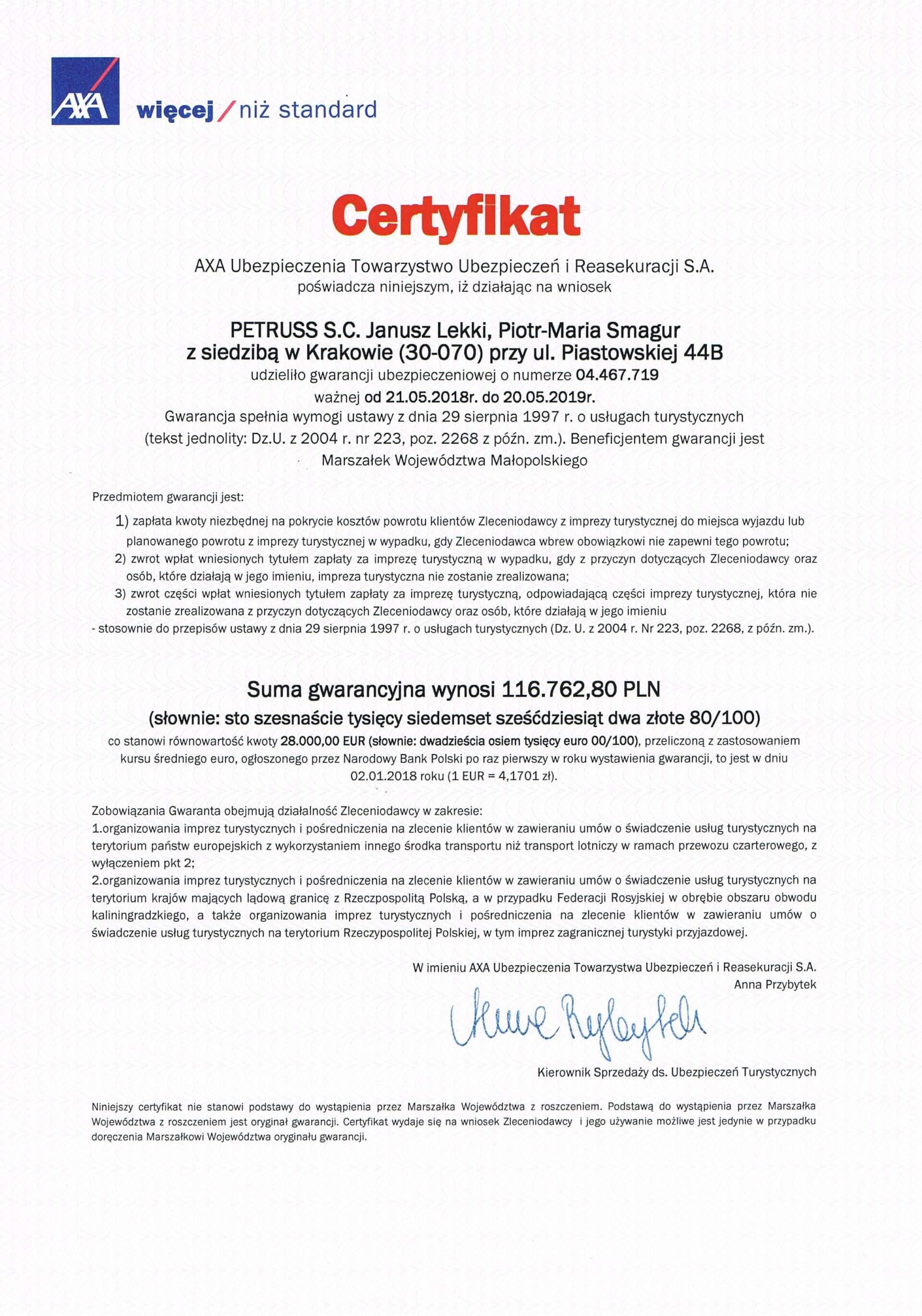 AXA-certyfikat-gwarancji